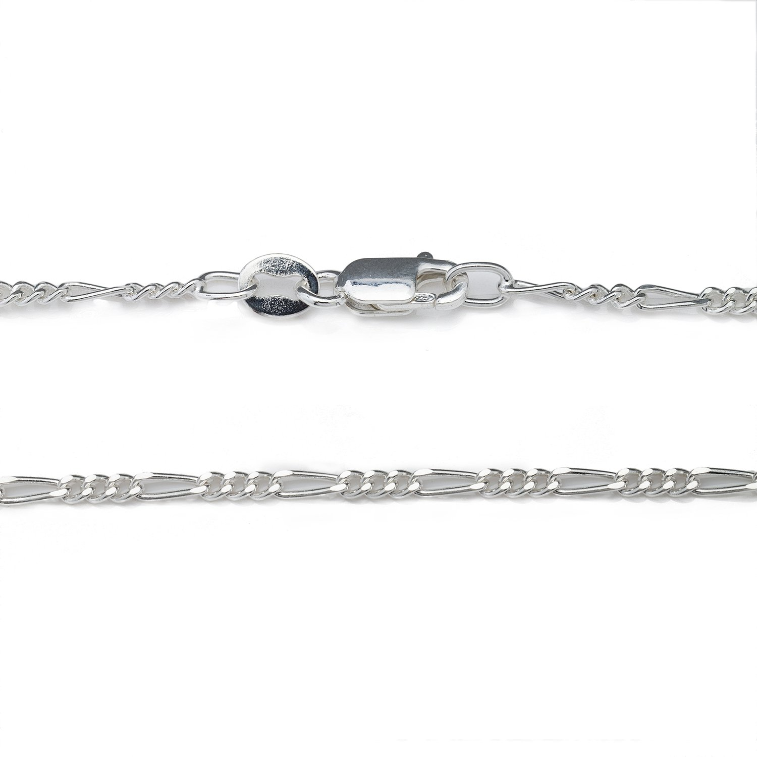 925 Sterling Silver 1.8MM Figaro Chain - Italian Necklace For Women - Lobster Claw Clasp 24 Inch by Designer Sterling Silver (Image #7)