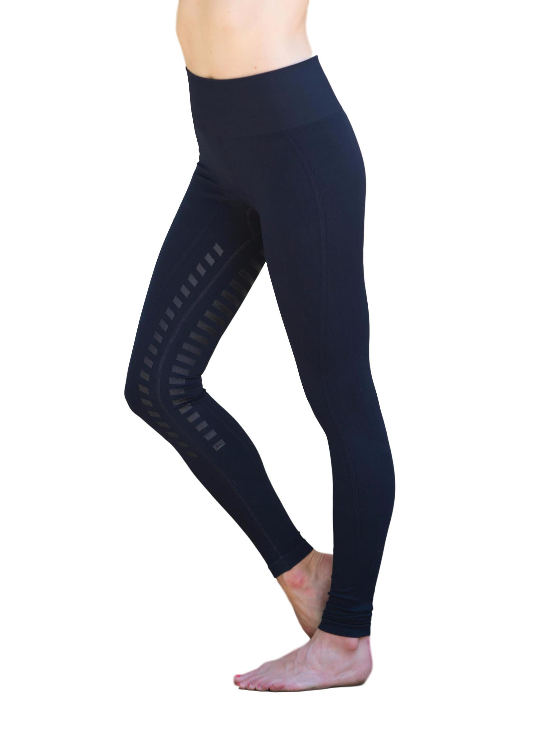 Goode Rider Designer Seamless Tights Full Seat Navy XL