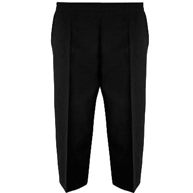 a6efcd73033 New Womens Ladies 3 4 Elasticated Trousers Shorts Capri Pants UK 8-22   Amazon.co.uk  Clothing