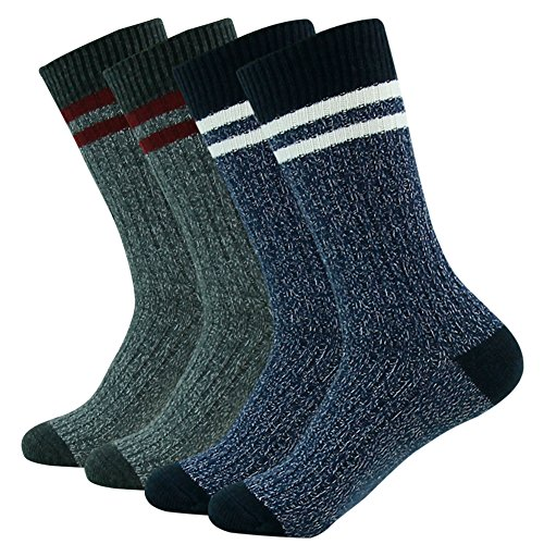 Acrylic Multi Sport Socks (Time and River Breathable Mid Length Multi Performance Socks- Perfect For Outdoor Sports Navy Blue and Dark Gray Small 4 Pairs)