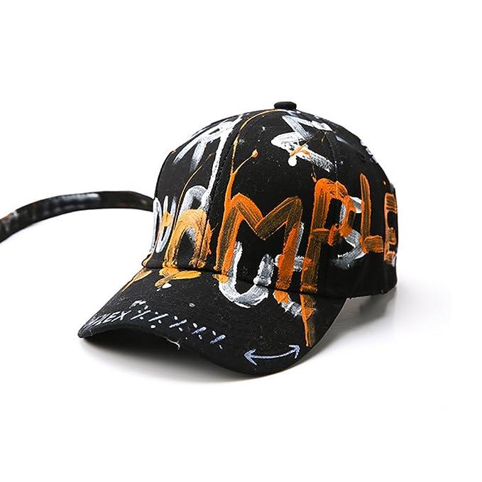 SUPERCB Women Man Baseball Cap Hat Cotton Graffiti Letter Black at ... 7e26108ec089