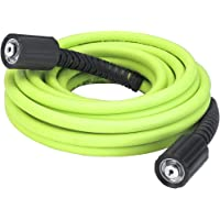 Flexzilla Pressure Washer Hose with M22 Fittings, 1/4 in. x 25 ft, ZillaGreen - HFZPW3425M