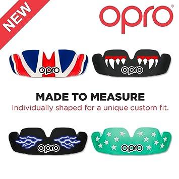 190269c3af51b Opro Junior pour enfant conçu sur mesure Protège-dents avec D30 Matière  absorbant les chocs. 50% plus Gum ...