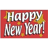 "Fahne ""Happy New Year"" 1,52 x 0,91m"
