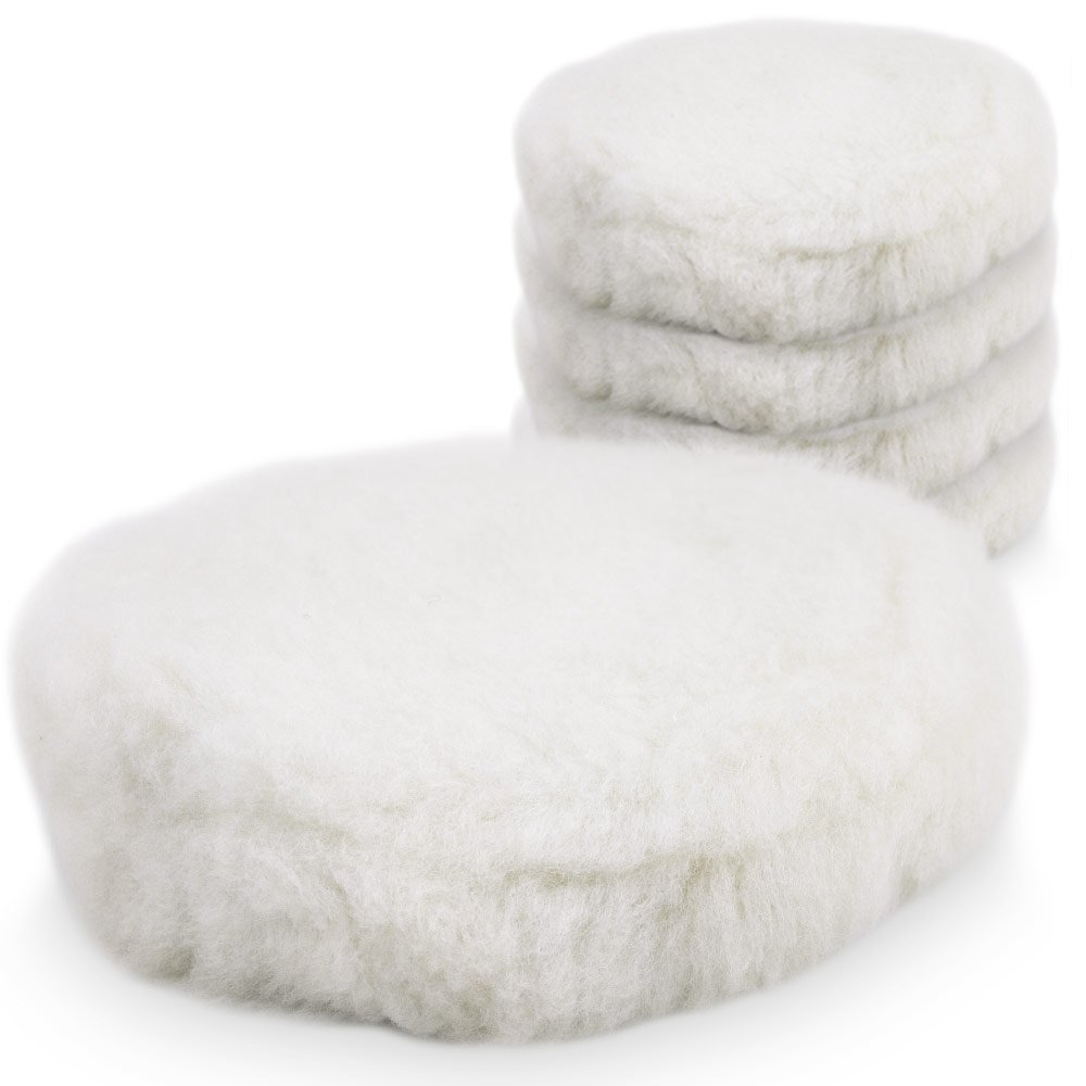 BITUXX/® Tampone di lana d/'agnello per lucidatura per lucidatrice per auto da 180/mm