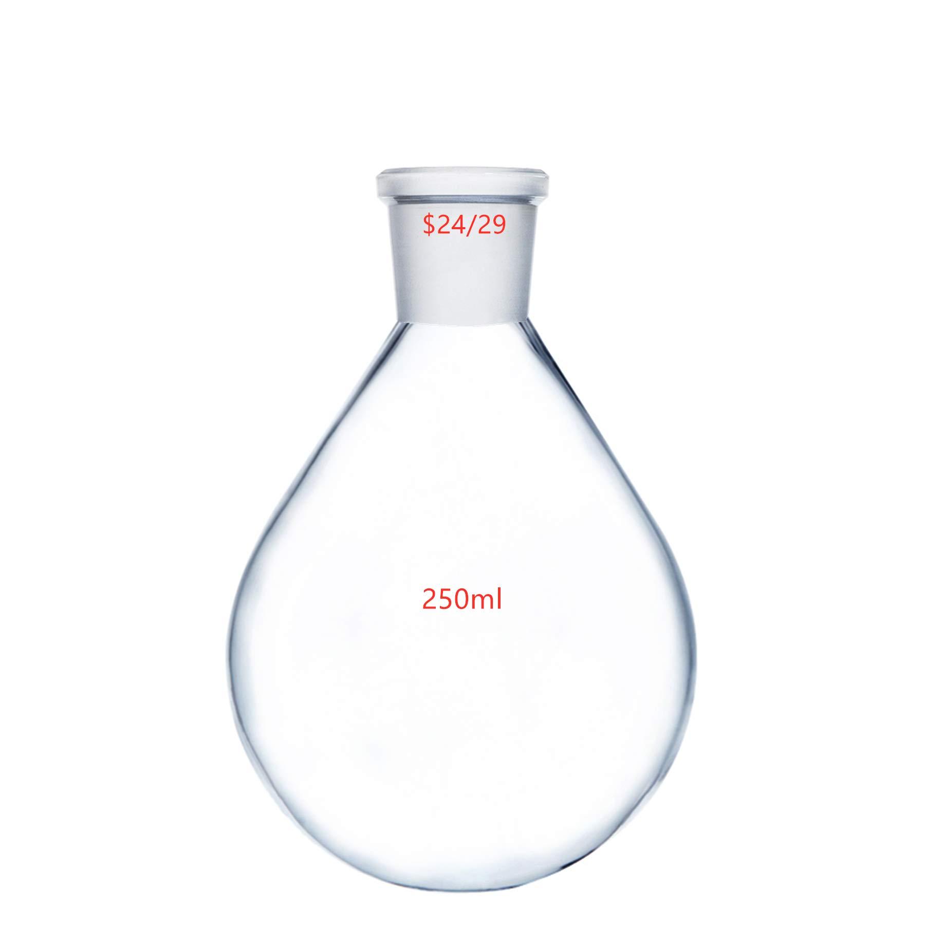 Deschem 250ml 24/29 Glass Recovery Flask Lab Rotary Evaporator Vessel Kjelda Bottle by Deschem