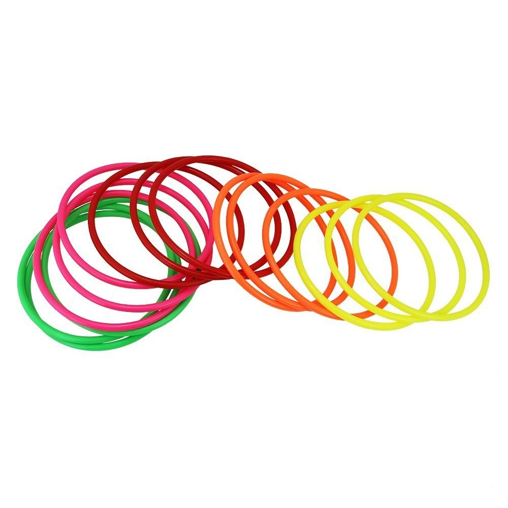 JTDEAL 15 Piezas Aros Plastico Anillos De Lanzamiento Toss Anillos Aplican A Todos Los Niños y Niñas De Mayores De 1 Año(14.5 x 0.7cm, 5 Colores)