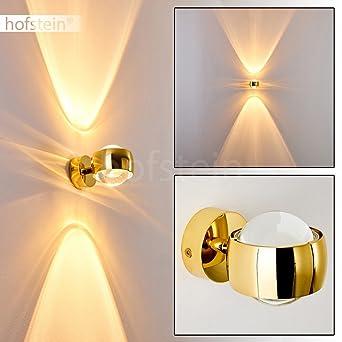 Effekt Wandlampe Sapri   Kugelförmige Wandleuchte Mit Lichteffekten    Wandspot Aus Metall Und Linsen Aus