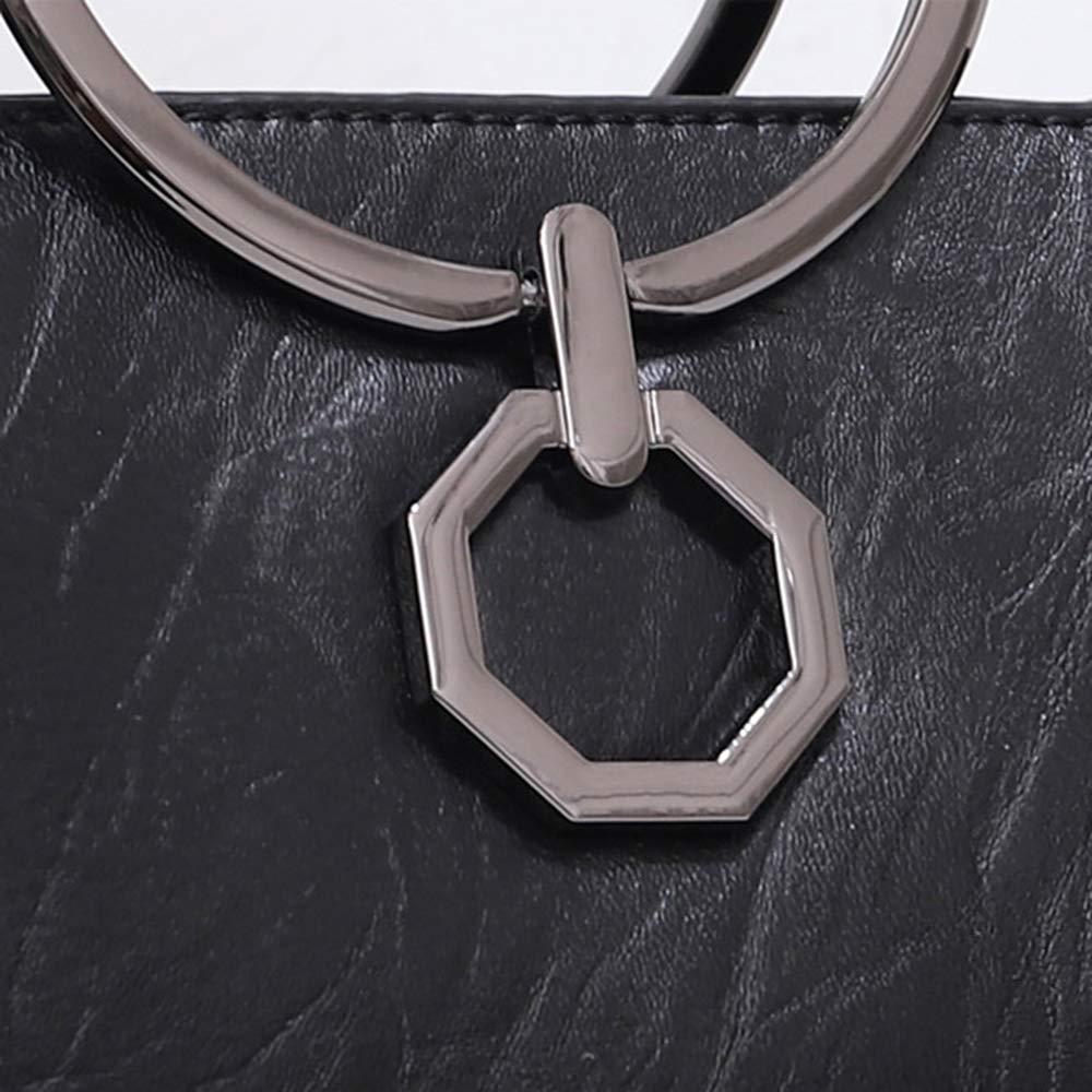 Qi damläderhandväskor handväskor topphandtag bärkassar axelväska för damer med, NAK Nak