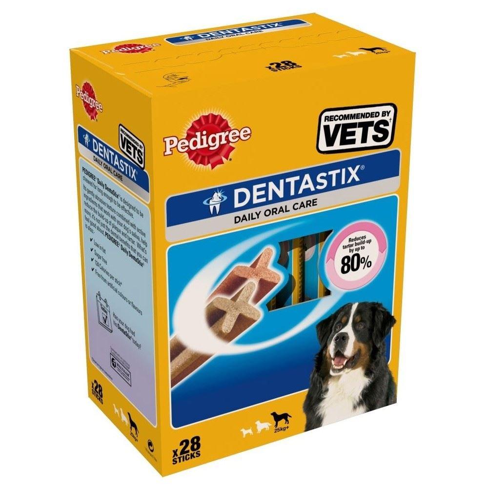 PEDIGREE - Dentastix pour grands chiens (+25kg) - 1 boîte de 28 Bâtonnets (1080g) Grocery