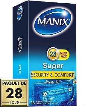Manix Super – Preservativos – Maxi pack de 28: Amazon.es: Salud y ...
