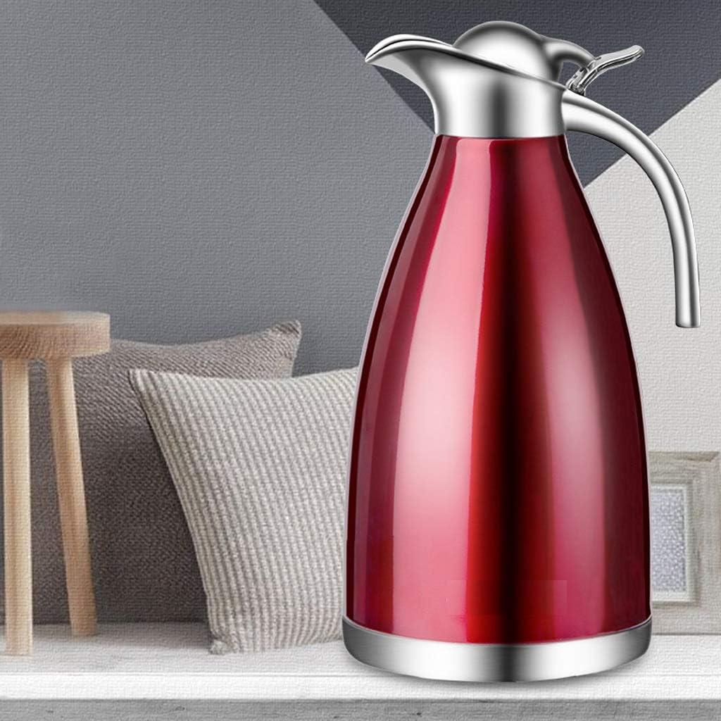 Thermo in acciaio inox Thermos per uso domestico grande capacità 304 Thermos Kettle Bollitore Bollitore per acqua europea 2 litri (Color : Red) Gray