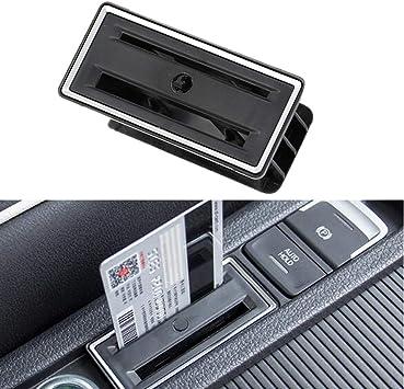 PolarLander 1 unid Car Park Card Coin Slot Holder Consola Central Titular de la Tarjeta Etiqueta para V/W Golf 7 MK7 Accesorios: Amazon.es: Coche y moto