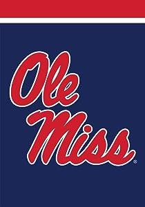 """Briarwood Lane Mississippi Rebels Garden Flag NCAA Licensed 12.5"""" x 18"""""""