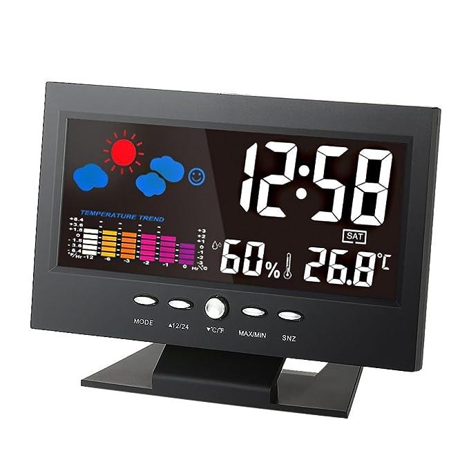 26 opinioni per KKmoon Wireless Colore Schermo Stazione Meteo con Radiosveglia,Termometro