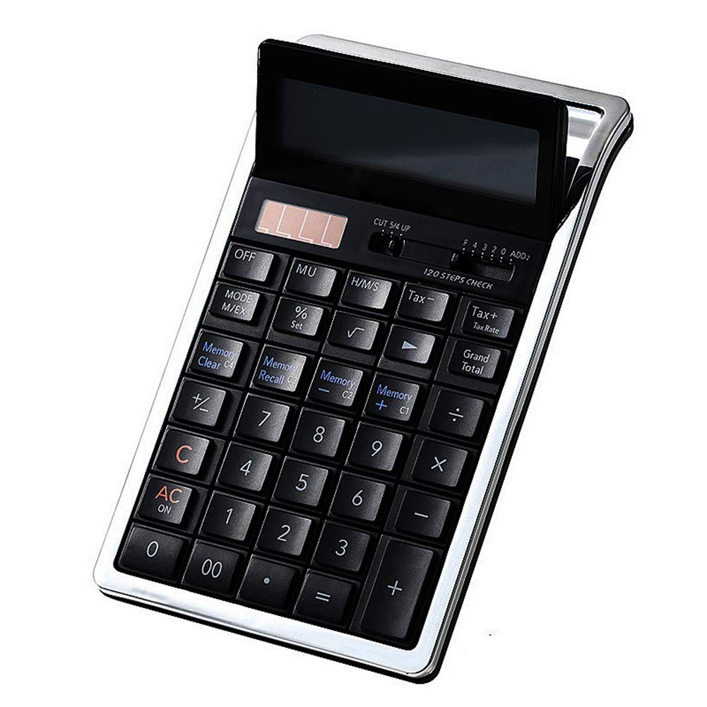 Calculator Professional Standard Desktop Electronic with 12-Digit Large Display Solar and Battery Dual Power Office Business Use