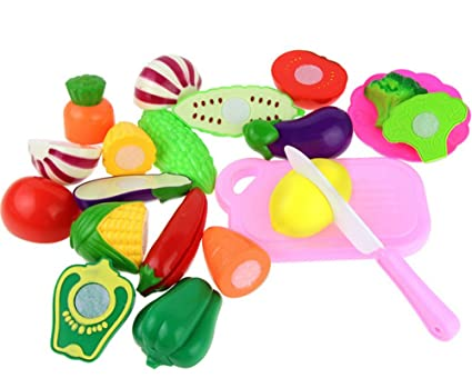 Terrific Gbell Kids Kitchen Set 12 Pcs Pretend Play Food Playset Cutting Fruits And Vegetables Educational Development Toy Gifts For Ages 2 3 4 5 6 Year Old Download Free Architecture Designs Jebrpmadebymaigaardcom