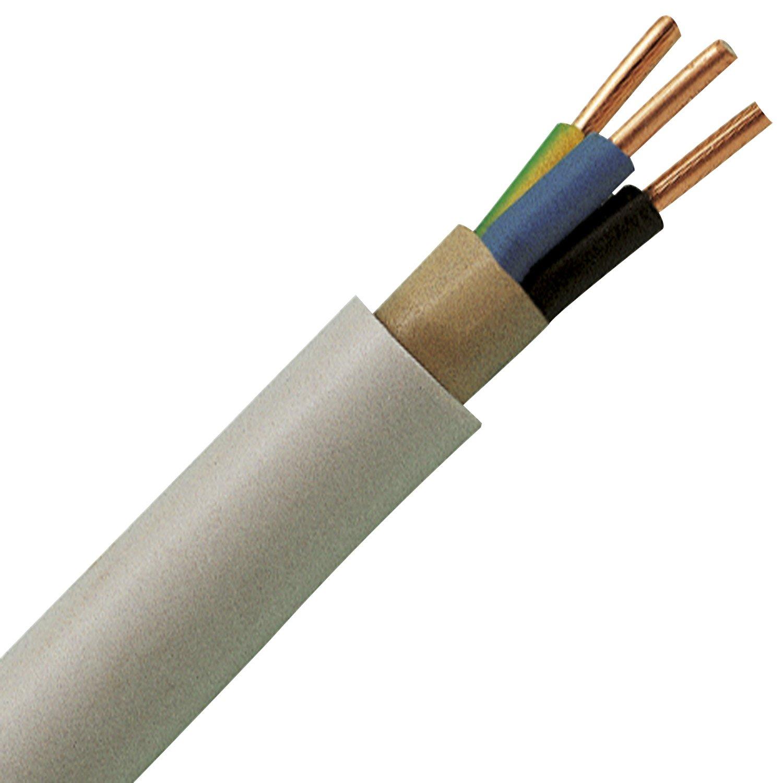 Kopp 150850849 Mantel-Leitung NYM-J, 3 x 1.5 mm², 50 m, grau ...