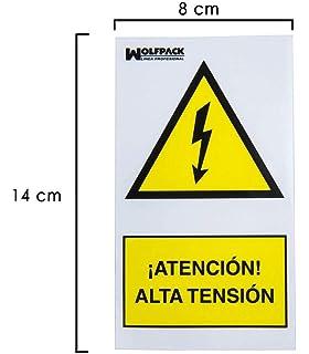 MovilCom® - SEÑAL ALUMINIO PENTAGONO ALTA TENSION 105mm LADO ...