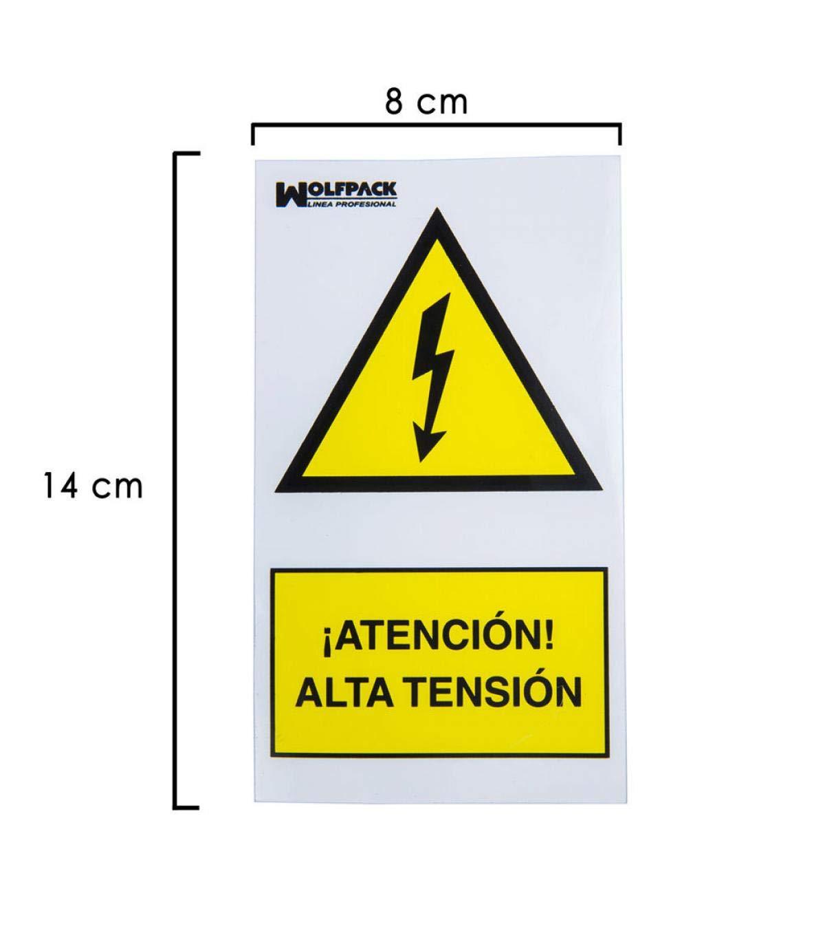 Wolfpack 15051270 Cartel Adhesivo Alta Tension 140x80 cm ...