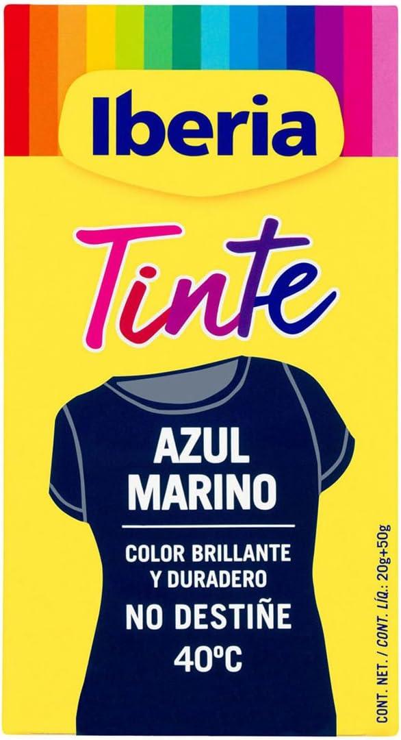 Iberia - Tinte Azul Marino para ropa, 40°C