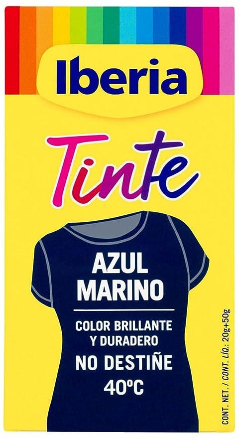 b3321bac0c20e Iberia Tinte Azul Marino para Ropa - 70 gr  Amazon.es  Belleza