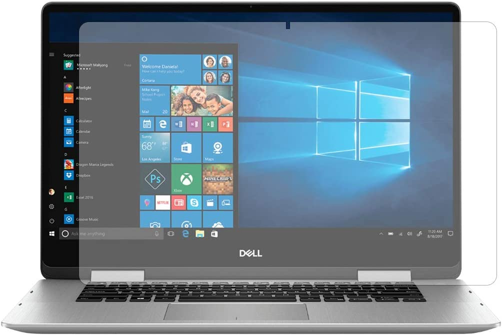 """PcProfessional Screen Protector (Set of 2) for Dell inspiron 15 7000 Series 7586 15.6"""" Screen Laptop High Clarity Anti Scratch"""