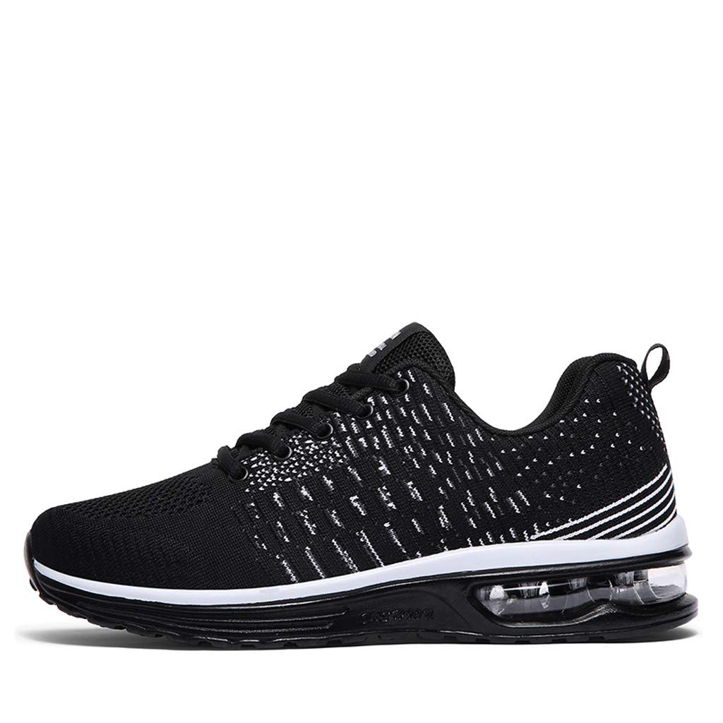 Lightweight Running Shoes Men,Mosunx Athletic 【Air Cushion Sneakers 】 Mesh Breathable Lace Up Fashion Casual Trail Walking Shoes (9 M US, Black) by Mosunx Athletic