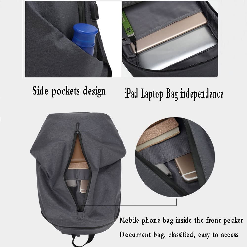 HWBB Business Anti-Theft Smart Multifunctional Backpack With External USB Charging Jacket Casual Travel Campus Student Bag