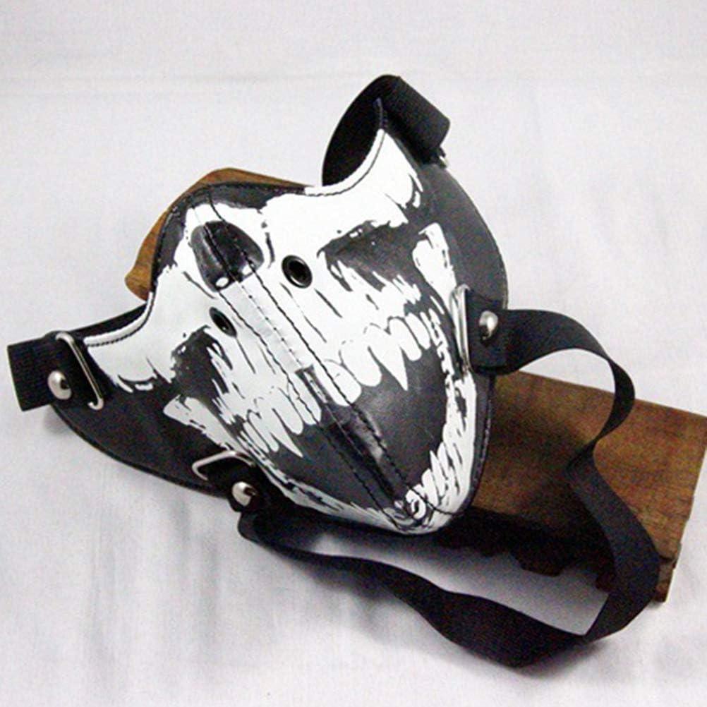 Halloween Mouth Mask Luminous Skull Printed Anti Dust Mask Halloween Decoration Mask (Black)