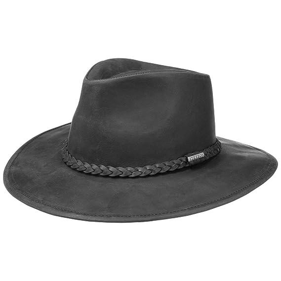 Buff Antique Split Real Leather Cowboy Hat Western Hat SIZE M