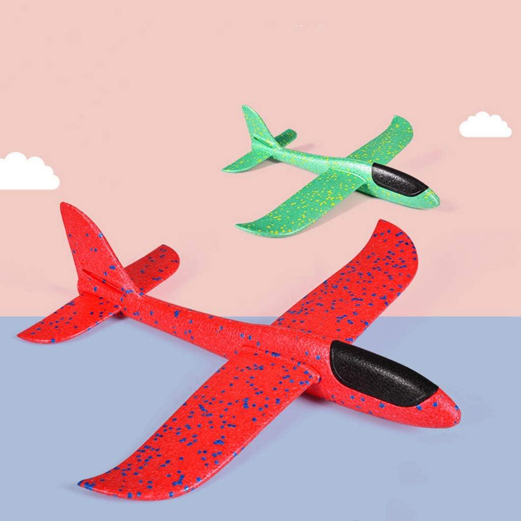 mod/èle en polystyr/ène Cadeaux davion pour gar/çons Filles Feelairy 2 pi/èces Enfants Mousse Avion Planeur 13,5 Pouces Main davion l/éger jetant Jouet de Jeu de Sport en Plein air