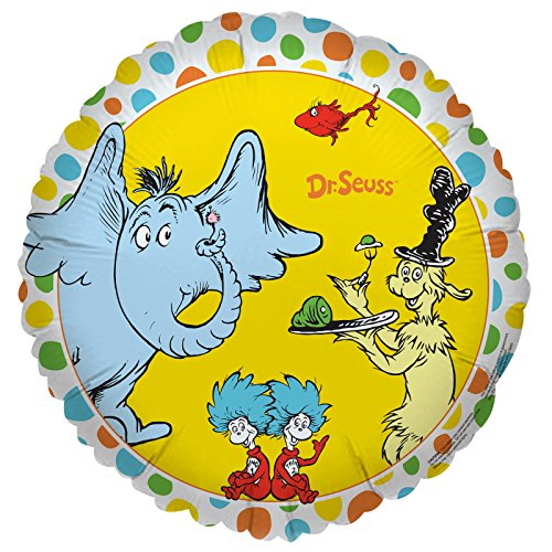 BirthdayExpress Dr Seuss Cat in The Hat Party Supplies - Foil -