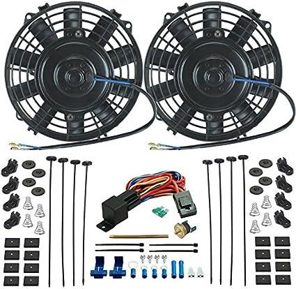 American V Dual Radiador eléctrico de 6 pulgadas ventiladores de ...