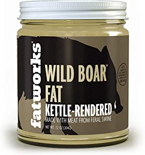 product image for Fatworks, Premium Wild Boar Lard is only Lard That Naturally Contains Omega 3's, Rich Flavor, Gourmet and Delicious, WHOLE30 APPROVED, KETO, PALEO 7.5 oz.