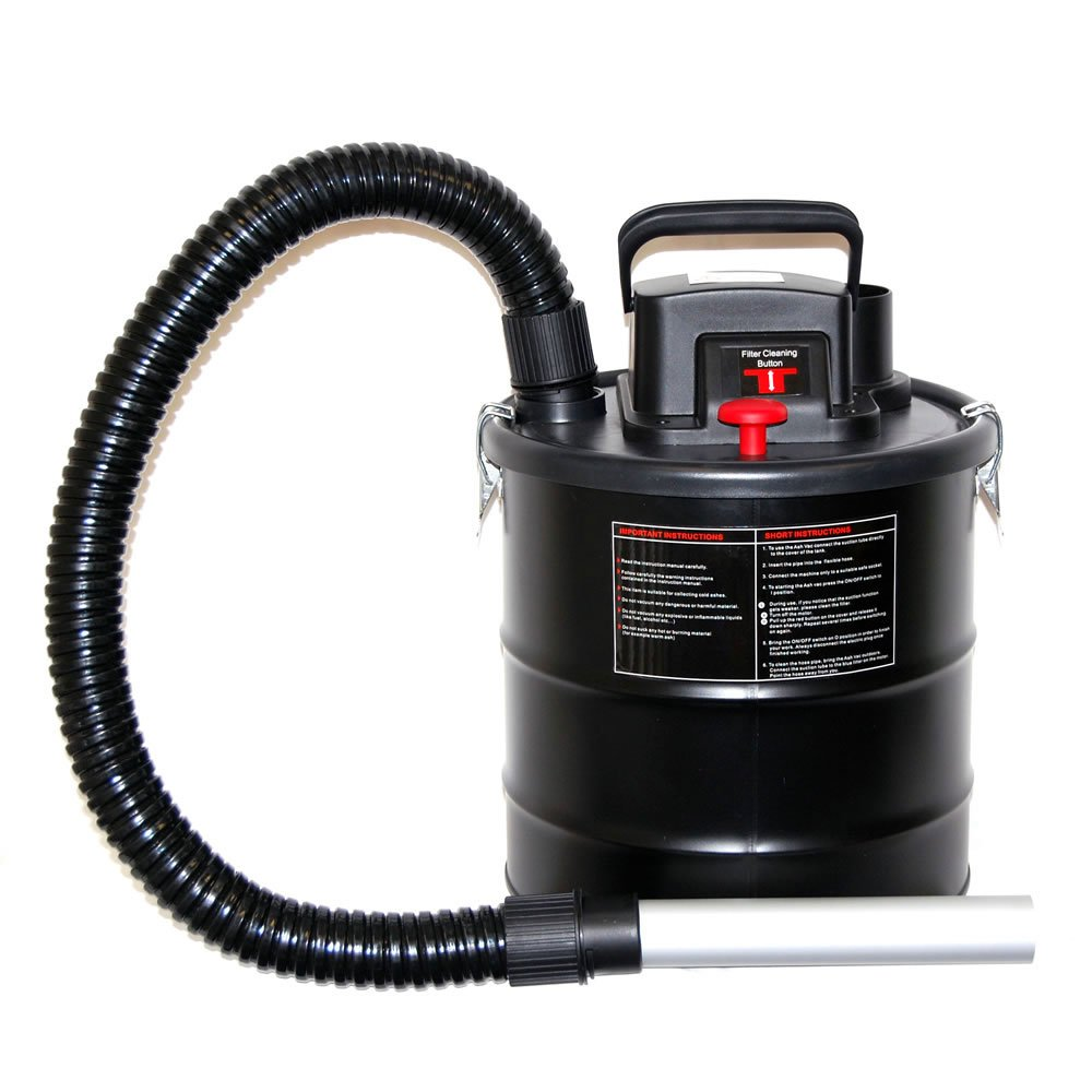 Inglenook 18 Litre Ash Vacuum Fireplace Cleaner BBQ Chimney Dirt Collector Ash Vac 1200W 146
