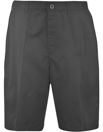 ecef012b1a Dunlop Mens 4 Pockets Zip Fly Golf Shorts Pants Bottoms
