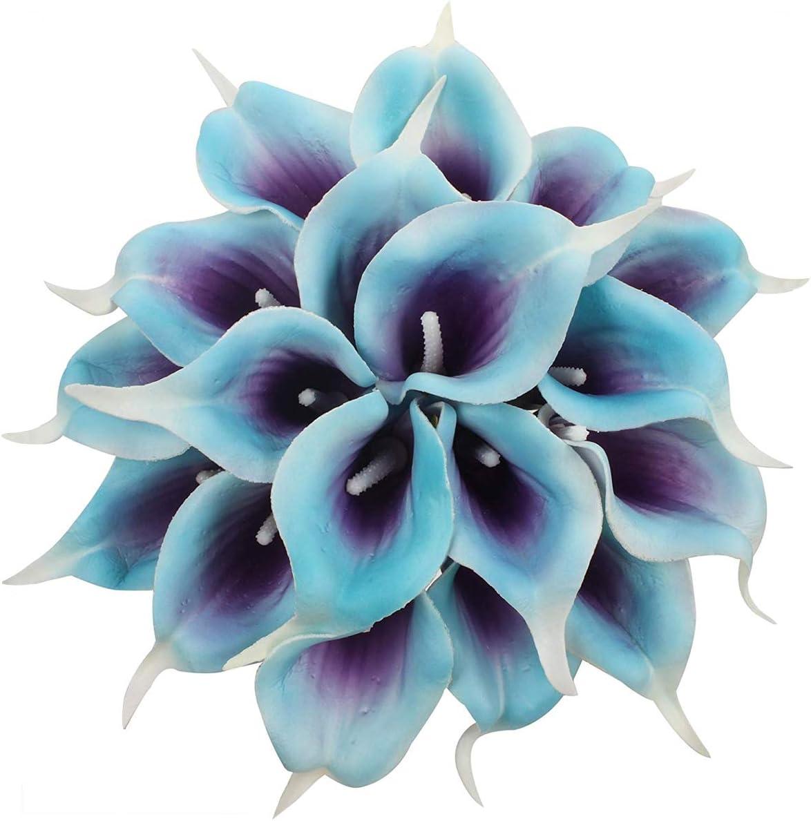 Light Blue And Lilac Bouquet Flower Bouquet Wedding Blue