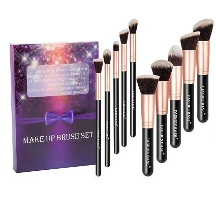 Ensemble de pinceaux à maquillage Fashion Base® style Kabuki, de qualité  professionnelle, poils