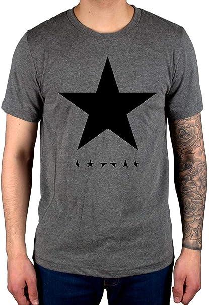 Sizes David Bowie Black Star T-Shirt For Men Quality Gildan Tee many Colors
