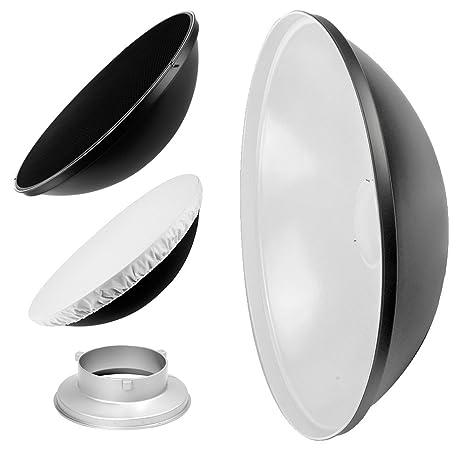 55cm 22inch Studio Beauty Dish Honeycomb /& Diffuser White Multiblitz V-Type