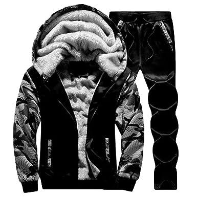 MCYs Mens Winter Thick Warm Military Jacket Parka Fur Fleece Lined Outdoor Coat Mens Camouflage Hoodie Winter Warm Fleece Zipper Sweater Jacket Outwear Coat