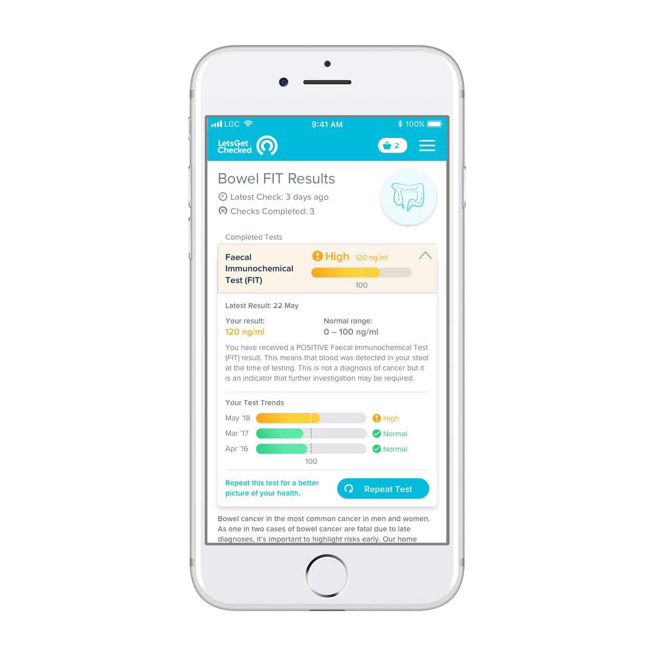 Diabetic Check - Accredited Lab at Home, Accurate Results- at Home HbA1c Test with Online Results in 5 Days - 100% Private and Secure by LetsGetChecked (Image #3)