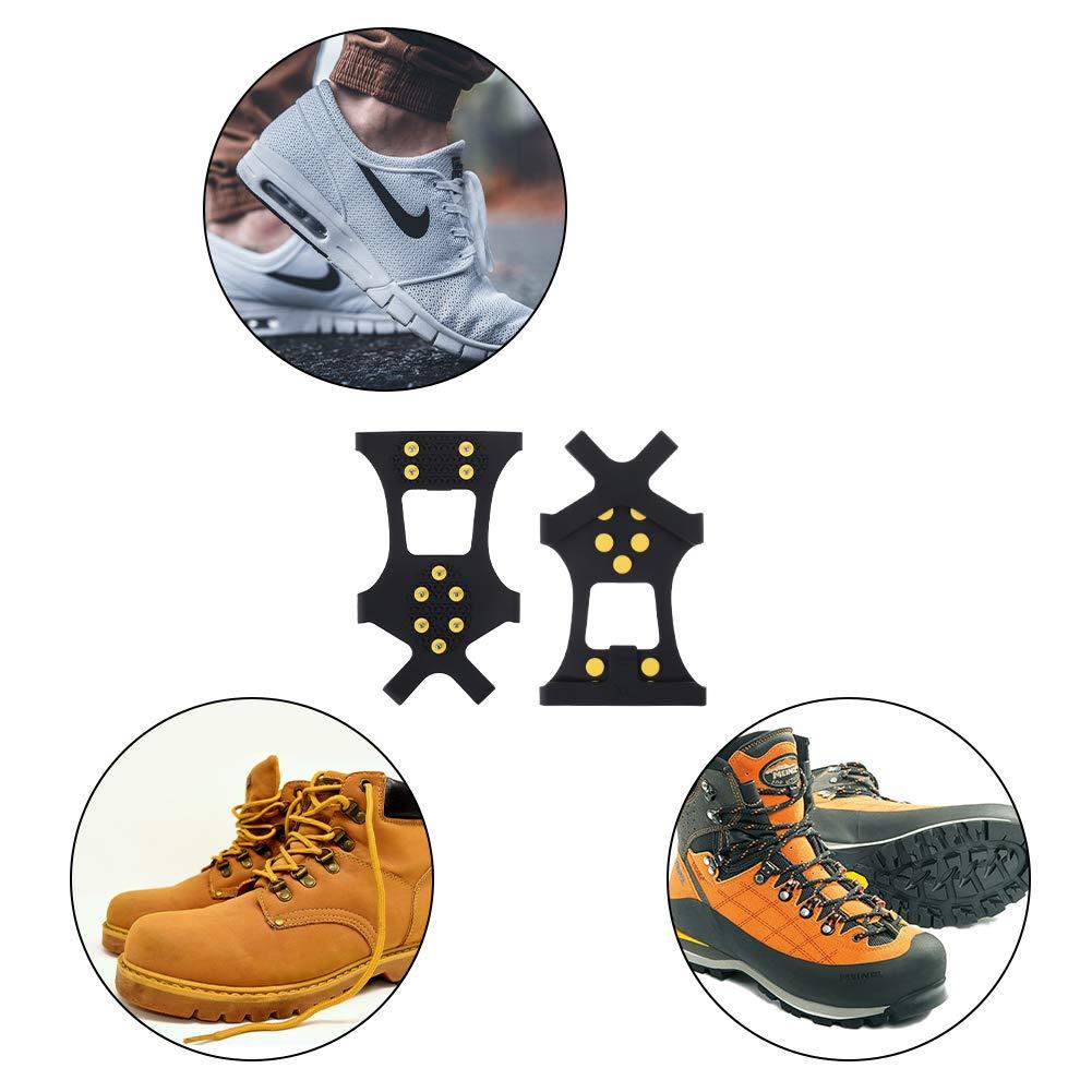 Yumi V Dispositivo Antideslizante para Zapatos de Invierno y Monta/ñismo U/ñas Antideslizantes para Crampones U/ñas para Escalar al Aire Libre U/ñas para Patines
