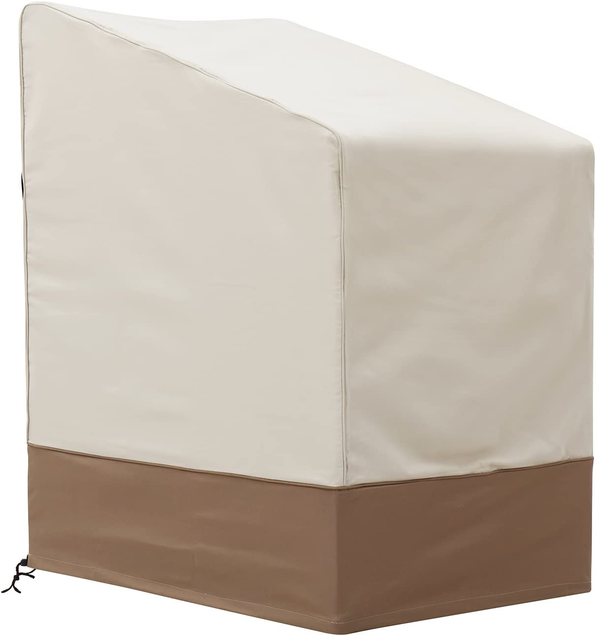Finnhomy Patio Stacking Chair Cover for Outdoor Furniture Waterproof Garden StackableChair Cover Durable Weather Fade Resistant
