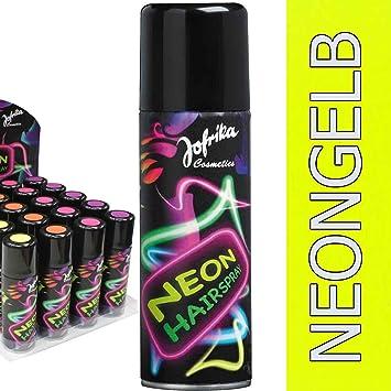 Amakando 80er Jahre Haarspray Disco Farbspray Neongelb Neonfarbenes