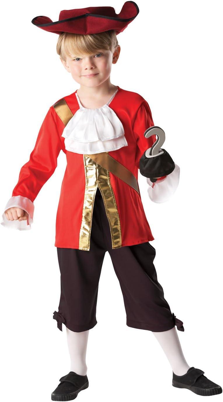 Rubie's - Disfraz Capitán Hook de Peter Pan para niños, 116 cm (85083)