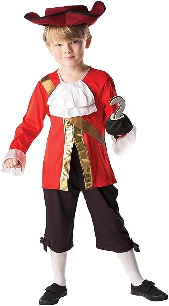 Rubies - Disfraz Capitán Hook de Peter Pan para niños, 128 cm ...