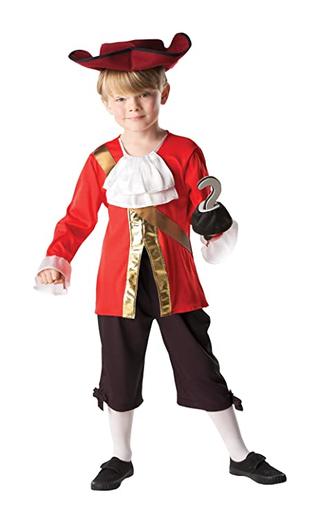 Rubies - Disfraz Capitán Hook de Peter Pan para niños, 104 cm (85082)