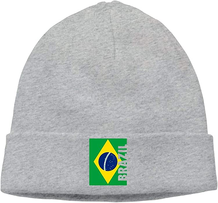 09 JGJG Brazil Flag Men Women Knit Hat Winter Warm Knit Beanie Cap ... 6a284b60cfe